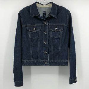 Pretty GAP dark wash denim jacket